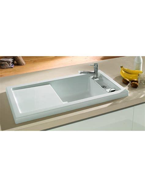single bowl sinks for kitchens denby sonnet so1b 1 0 bowl sink white glossy 7956
