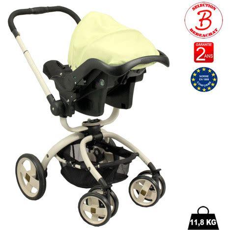 poussette siege auto bebe poussette bébé 4 roues rotative combiné 3 en 1 poussette