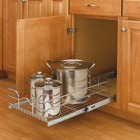 Medium Cabinetmount Chrome Wire Basket Rack  Traditional