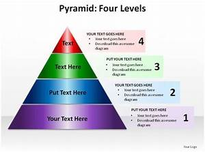 Pyramid Four Levels Ppt Slides Presentation Diagrams
