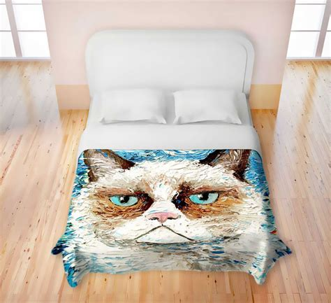cat duvet cover feline duvets grumpy cat products