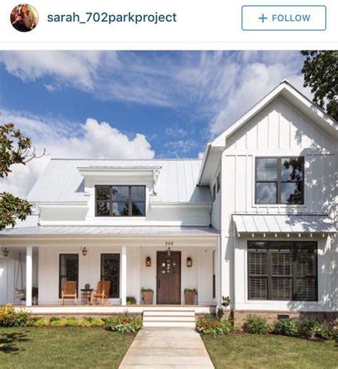white farmhouse exterior board and batten vertical siding metal roof modern farmhouse e x t e r i o r s pinterest