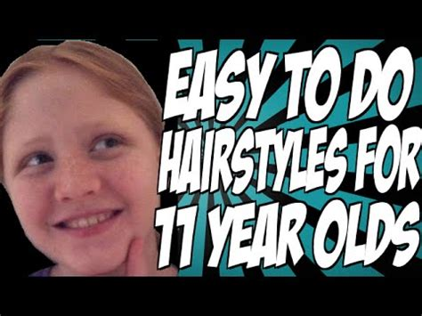 Easy To Do Hairstyles For 11 Year Olds  Youtube
