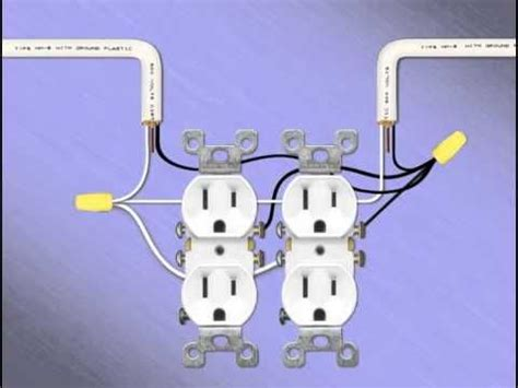 Two Gang Receptacles Double Electrical Outlet