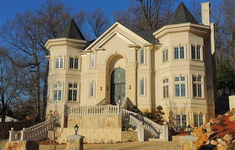 Opulent Mansions by Newly Built Opulent Mansion In Bethesda Homes Of The Rich