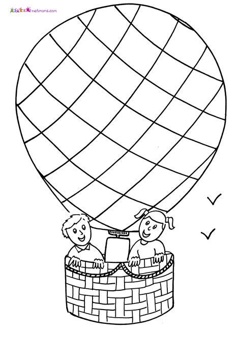 hot air balloon  transportation printable coloring