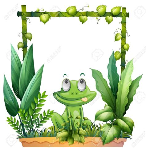 frog clipart border clipground