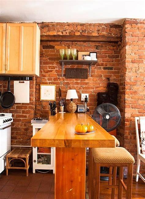 cuisine avec brique cuisine en brique et en 63 photos inspirantes à voir