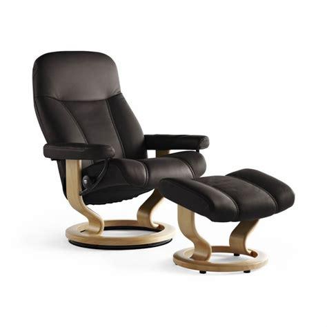 stressless consul recliner chair footstool