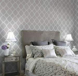 Tapeten Im Schlafzimmer : tapete in grau stilvolle vorschl ge f r wandgestaltung ~ Sanjose-hotels-ca.com Haus und Dekorationen
