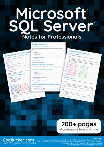 microsoft sql server notes  professionals book