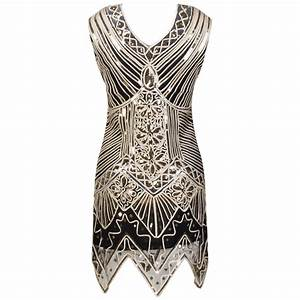 glitter woman v neck neck 1920s great gatsby dress With robe 1920 femme