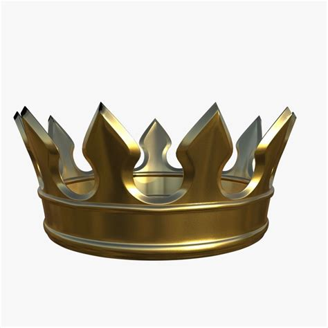 gold crown 3D model | CGTrader