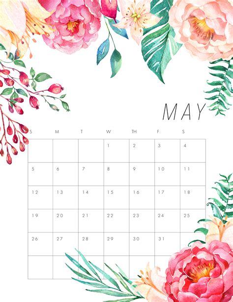 printable floral calendar cottage market