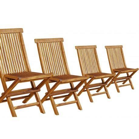 chaises en teck lot de 4 chaises de jardin en teck huilé pliables et de