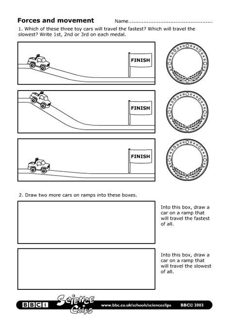 Bbc  Schools Science Clips  Forces And Movement Worksheet
