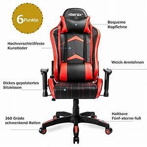 Merax Gaming Stuhl : merax gamingstuhl schreibtischstuhl b rostuhl gaming chair ~ Watch28wear.com Haus und Dekorationen