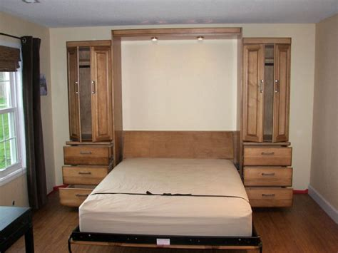 space saving ideas for small simple murphy bed ideas suited for small interior