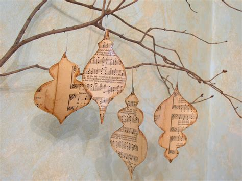 christmas ornament sheet music ornament set of 4
