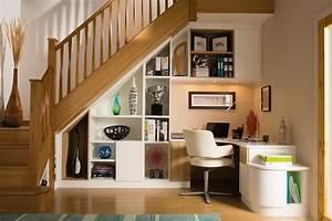 Bureau Sous Escalier : d couvrez 5 fa ons d 39 int grer des rangements votre escalier ~ Farleysfitness.com Idées de Décoration