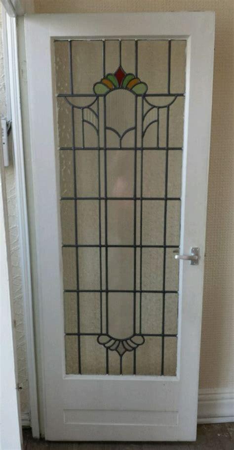 original  stained glass internal door