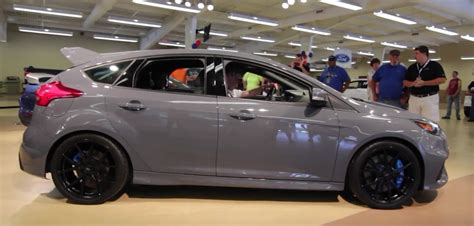 Stealth Grey 2016 Ford Focus Rs Stalls Engine At Ford