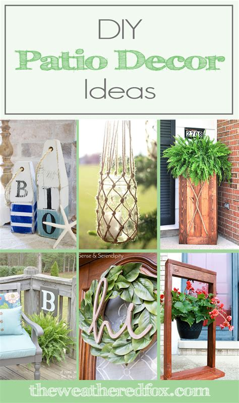 diy patio decor ideas to spruce up your exterior the
