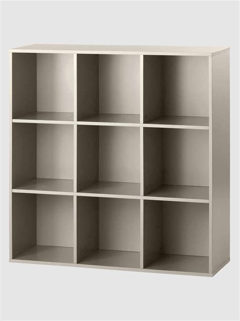 meuble suspendu chambre meuble de rangement 9 cases taupe vertbaudet