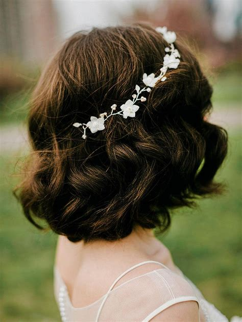 stunning wedding hairstyles  short hair wedding