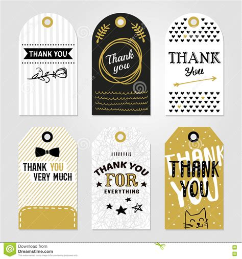 Thank You Tag Set Stock Vector  Image 79294648