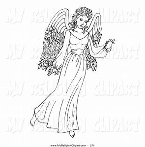 Angel clipart guardian angel - Pencil and in color angel ...