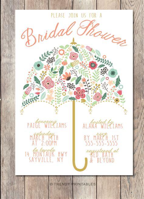 Bridal Shower Invitations - bridal shower invitation umbrella bridal shower invite