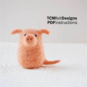 Pdf Needle Felting Piggy  Instructions  Beginners Animal