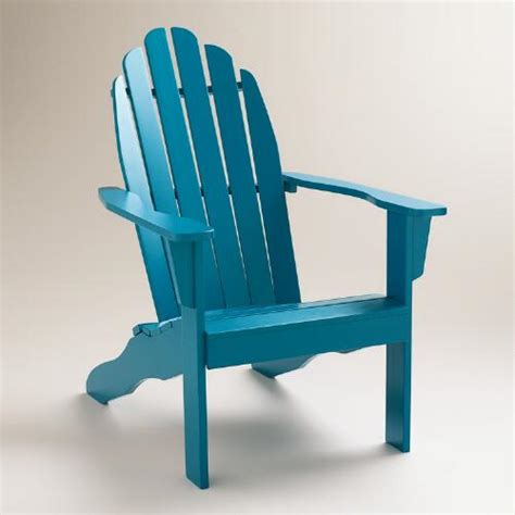 mykonos blue classic adirondack chair world market