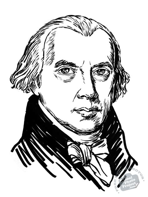 james madison  stock illustration  president