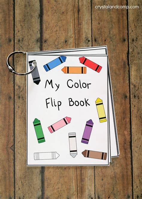 printable color flash card flip book