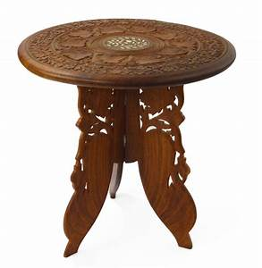 table indian hand carved and inlaid side table chairish With indian carved coffee table