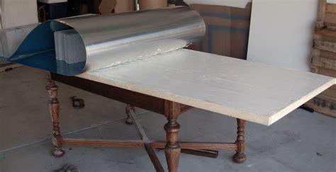 zinc kitchen table zinc table tutorial house ideas zinc table