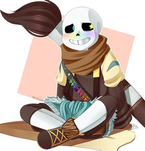 He exists out of them but can interact with them. Inktale - Ink!Sans by NeykStar on DeviantArt