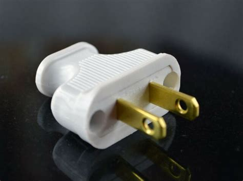 Vintage White Antique Style Electrical Plug For Cloth