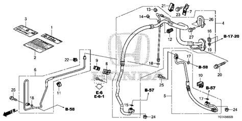 automotive air conditioning repair 2012 honda pilot parental controls oem 2016 honda pilot 5 door a c hoses pipes parts hondapartsonline net