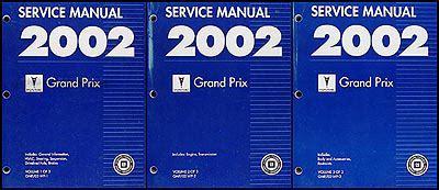free service manuals online 2006 pontiac grand prix engine control 2002 pontiac grand prix repair shop manual original 3 volume set