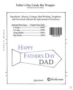 Father's Day Candy Bar Wrapper Template