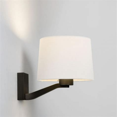 astro montclair wall light in bronze finish with white shade 7476 4049 lighting from the