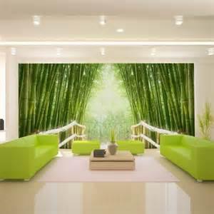 fototapete design fototapete bambus relax waldweg grün 232 70 â