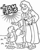 Jesus Coloring Christ Jezus Kolorowanka Team Children Easy Christian Miracles Walking His Dzieci Dziecmi Printable Bathroom Mandala Colorare Pagina Kolorowanki sketch template