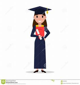 Vector Cartoon Student Girl Graduate Stock Vector ...