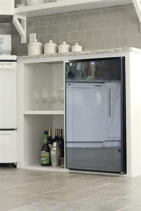 mini fridge transitional kitchen jenna sue design