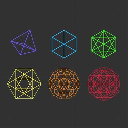 Platonic Math Solid Solids Dimensional Geometry Regular