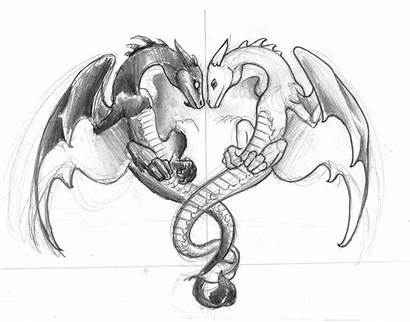 Dragon Tattoo Tattoos Drawings Sketchy Couple Drachen
